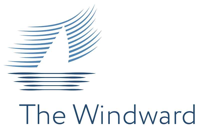 The Windward's logo is designed to signify decades of water-related activities that helped define Lake Oswego.