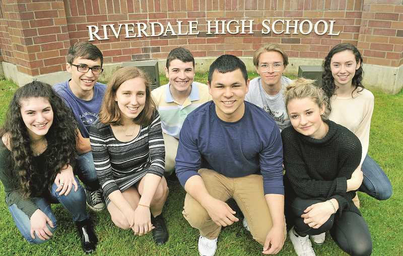 REVIEW PHOTO: VERN UYETAKE - The Top Scholars beam with pride at their academic achievements.