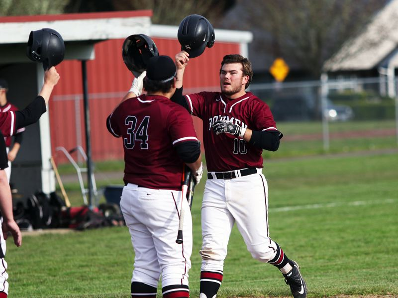 DAN BROOD - Sherwood senior Harrison Grow (right) was picked to play in the upcoming Oregon All-Star Baseball Series.