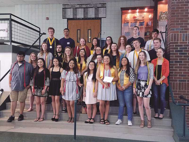 COURTESY PHOTO: NORTH MARION HIGH SCHOOL - North Marion's class of 2017 received more than $45,000 worth of scholarships.