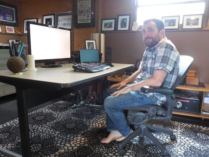 PAMPLIN MEDIA GROUP: JOSEPH GALLIVAN - Seth Berman tricked out his Northeast Portland house with gigabit internet access from Century Link so he can work from home and ship large files, stream shows and listen to music on his Sonos system.