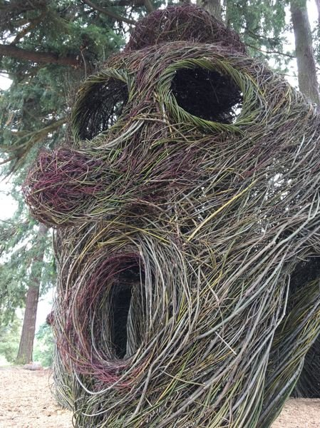 NEWS-TIMES/HILLSBORO TRIBUNE PHOTO: KATHY FULLER - Hillsboro's most recent public art installation, Head Over Heels by Patrick Dougherty, was a community effort involving 200 volunteers.