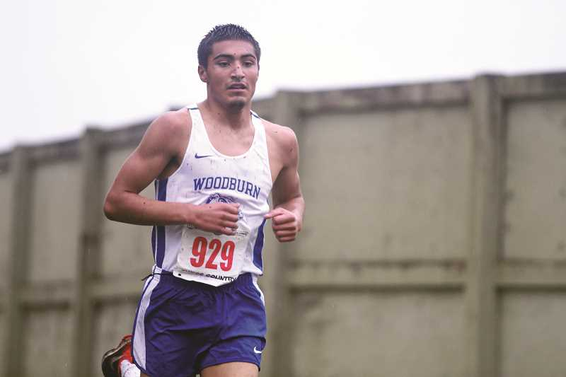 PHIL HAWKINS - Woodburn sophomore Giovanni Bravo led the Bulldogs at the 5A State Cross Country Championships with a 20th-place finish to help the team finish 12th overall.