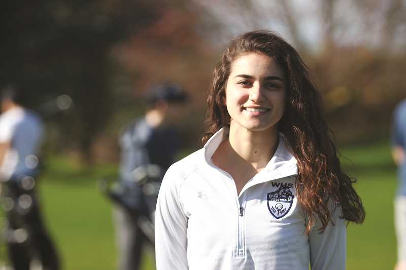 PHIL HAWKINS - Woodburn senior Michelle Torres earned the $100,000 Chick Evans Caddie Scholarship and helped lead the Bulldogs to the program's first state championship appearance in school history.
