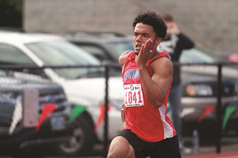 PHIL HAWKINS - Kennedy senior Bishop Mitchell was named Male Athlete of the Meet at the 2017 2A State Track and Field Championships after winning state titles in three events and placing second in a fourth.