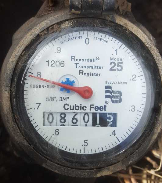 Molalla residential water meter