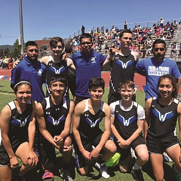 COURTESY PHOTO - Woodburn middle school track and field programs from French Prairie and Valor qualified seven athletes to the Oregon Middle School Meet of Champions in May. The annual track meet is the state championship equivalent at the middle school level.