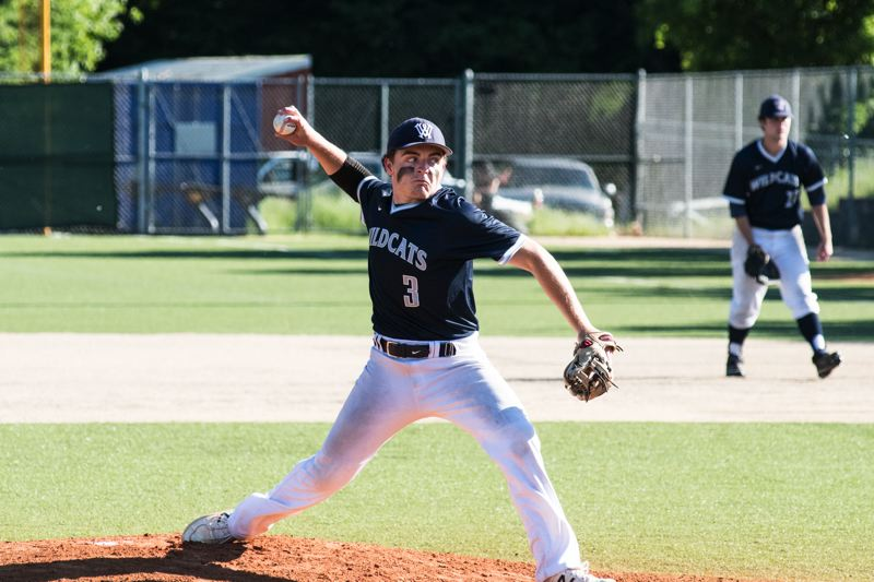SUBMITTED PHOTO: GREG ARTMAN - Wilsonville pitcher Gage Gloster made the All-State First Team and was named Conference Co-Pitcher of the Year.