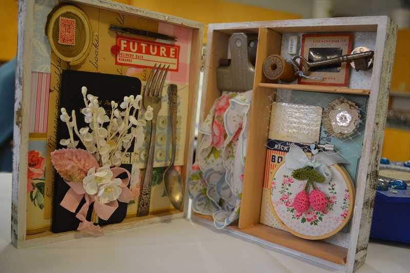NEWS-TIMES/HILLSBORO TRIBUNE PHOTO: KATHY FULLER - Cigar boxes take on a new personality when filled with knick-knacks.