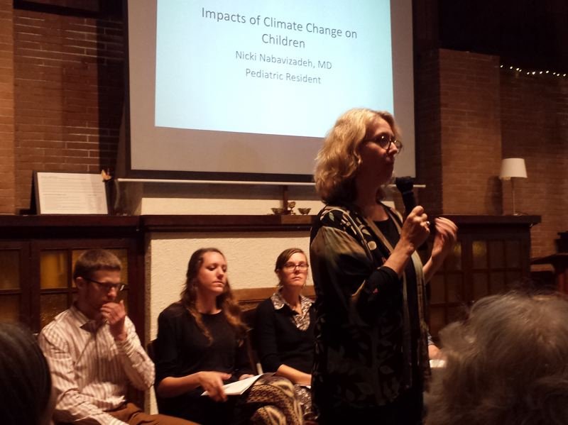 """PAMPLIN MEDIA GROUP: JENNIFER ANDERSON - State Rep. Alissa Keny-Guyer, D-Portland, moderated the recent climate change forum, calling it her """"therapy"""" to talk to young people about the future."""