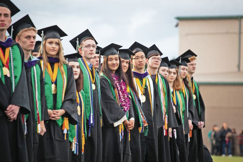 TIMES PHOTO: ADAM WICKHAM - Tigard High School graduates have heard enough advice, and they don't need any from us.