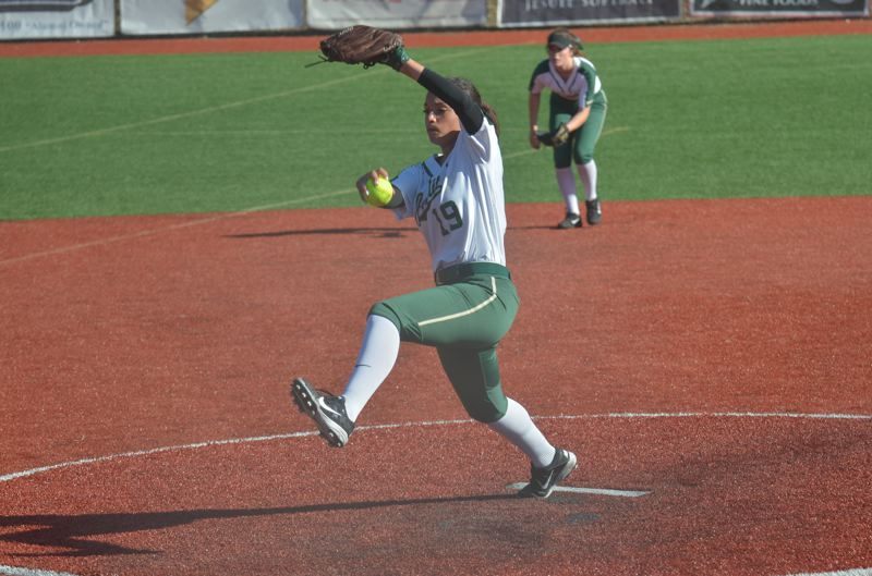 TIMES FILE PHOTO - Jesuit junior pitcher Olivia Strickland was co-Metro Player of the Year this season for the Crusaders.