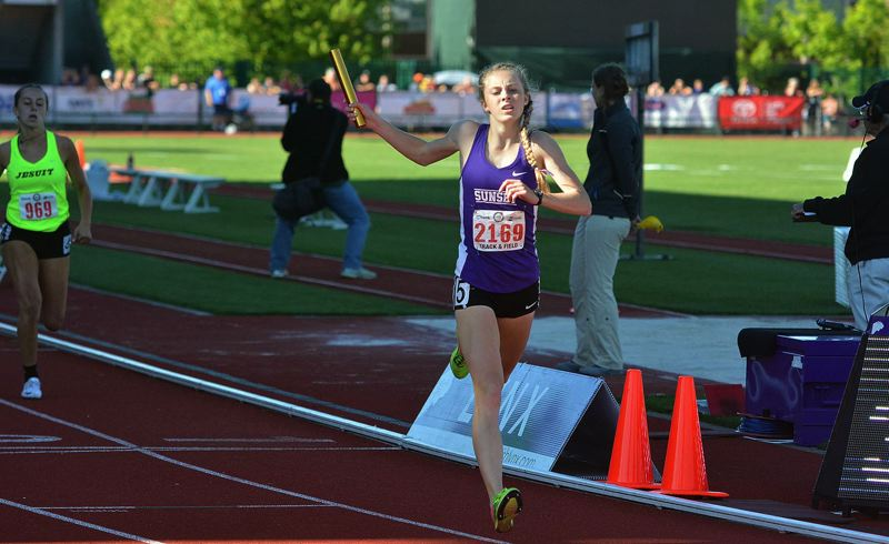TIMES FILE PHOTO - Sunset junior Kelly Makin is one of the Oregon Sports Awards finalists for Female Cross Country Runner of the Year.