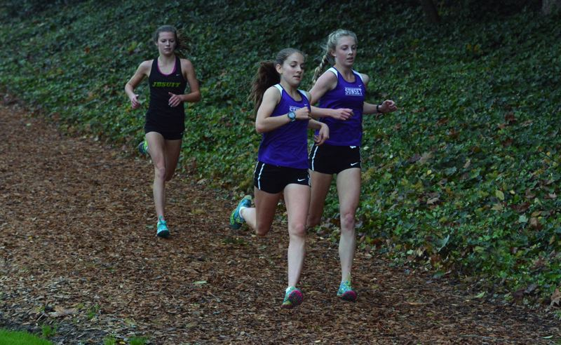 TIMES FILE PHOTO - Sunset sophomore Ember Stratton and junior Kelly Makin are two finalists for Female Cross Country Runner of the Year.