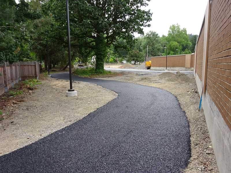SUBMITTED PHOTO - LOT's West Linn plant upgrades included a paved walking path on the east side of the property, joining Mapleton and Kenthorpe.
