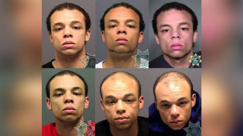 PHOTOS COURTESY: CCSO/MCSO - DeShaun Swanger, 24, in file mugshots from 2013-2016.