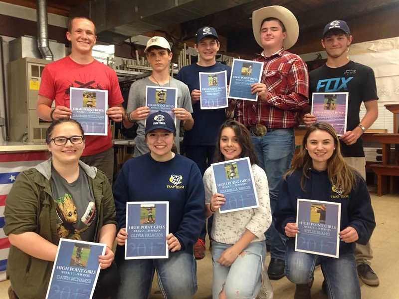 SUBMITTED PHOTO - Canby Clay Target League team top point-getters pose for a photo.