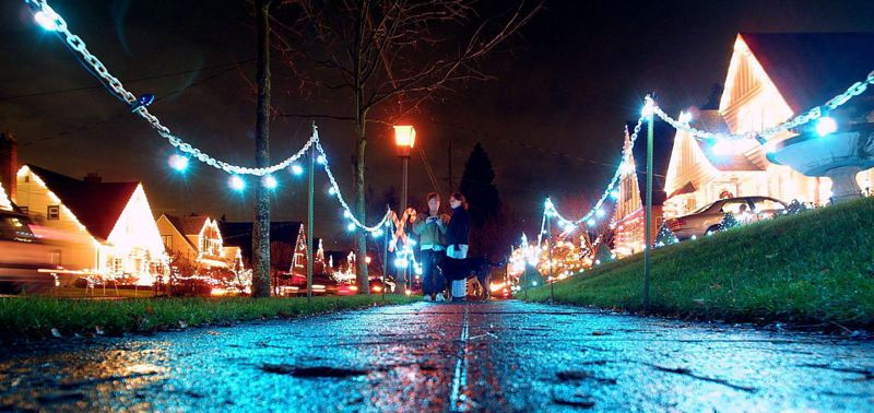 PAMPLIN MEDIA GROUP FILE PHOTO - Peacock Lane's annual Christmas light show is one of the reasons the four-block neighborhood had no opposition to its plan to become a national historic district.