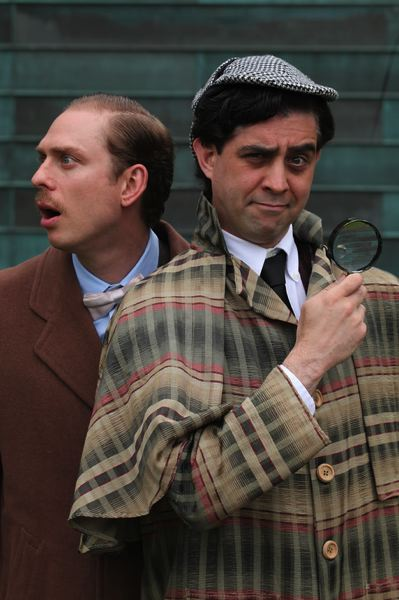 PHOTO BY TRAVIS NODURFT - Dennis Kelly as Dr. Watson and John San Nicolas as Sherlock Holmes star in Clackamas Repertory Theatre's production of Baskerville opening on June 29 in the Niemeyer Center.