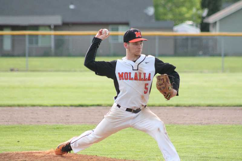 PIONEER PHOTO: CONNER WILLIAMS  - Molalla senior Aaron Alexander