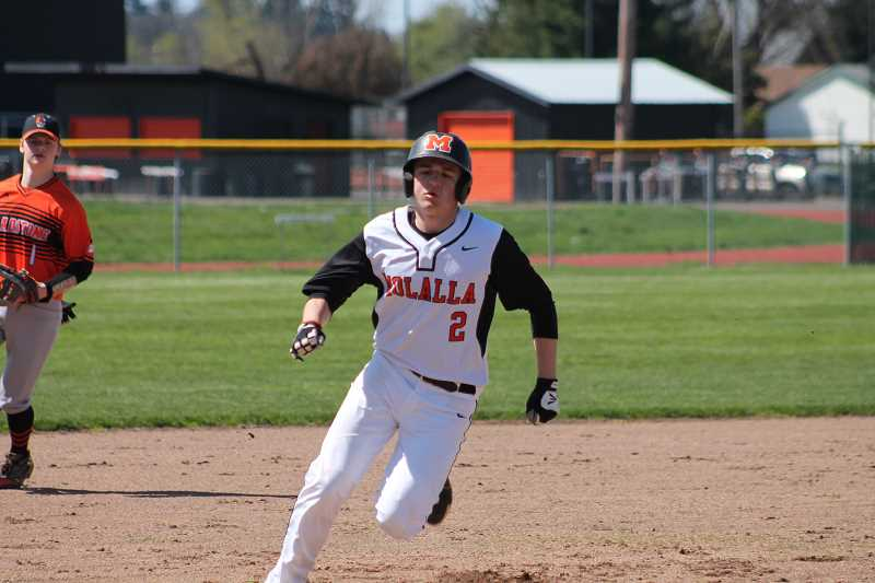 PIONEER PHOTO: CONNER WILLIAMS  - Molalla senior Will Schaefer
