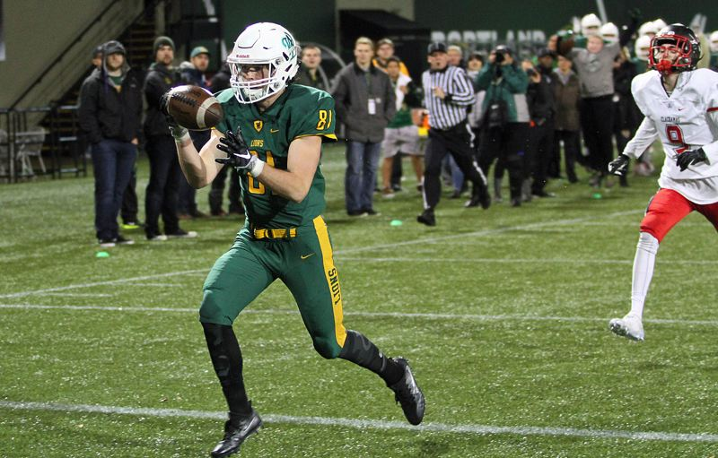 TIDINGS FILE PHOTO - West Linn senior Jake Meisen (here against Clackamas in the 2016 Class 6A state semifinals) and four of his Lion teammates will play in the Les Schwab Bowl on Saturday at Hillsboro Stadium.