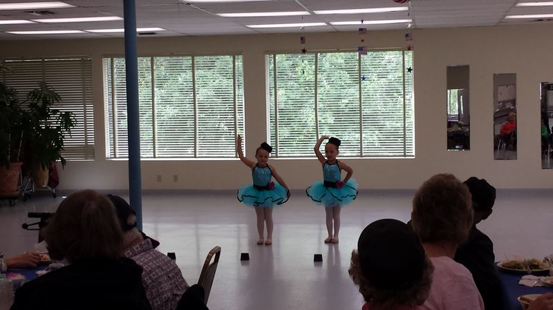 CONTRIBUTED PHOTO - Young dancers showcase their skills during a visit to the Estacada Community Center on Tuesday, June 13.