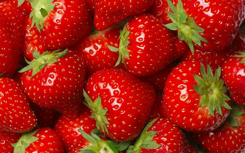 Strawberries with traditional shortcake or yellow cake will be available Sunday in Aurora.