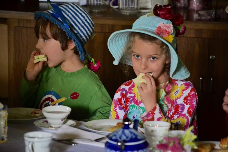POST PHOTO: BRITTANY ALLEN - All ages enjoyed scones, fruit, savory pastries and sandwiches and tea at Oral Hull's Tea Party fundraiser on Saturday, June 17.