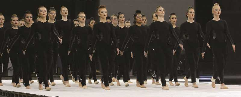 HERALD PHOTO: BRIAN MONIHAN - The Canby High School dance team captured its third consecutive state title in the show division of the Oregon Dance and Drill State Championships in March.