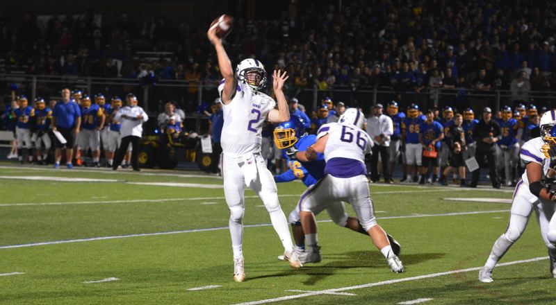 TIMES FILE PHOTO - Sunset senior quarterback Jason DuMont had two spectacular seasons for the Apollos this year. He will represent the Apollos at the Les Schwab Bowl.
