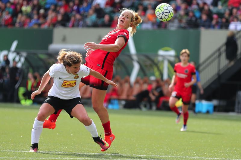 TRIBUNE FILE PHOTO: JAIME VALDEZ - Lindsey Horan, a 23-year-old Colorado native, has been a key instigator of offense this season for the Portland Thorns.