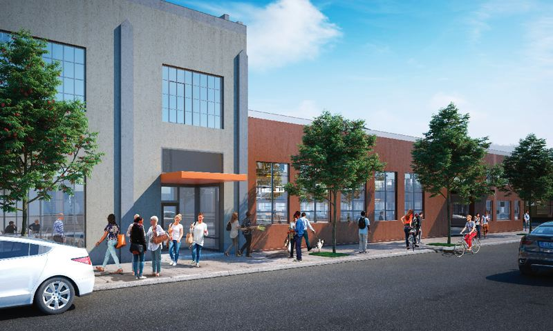 COURTESY: CUSHMAN & WAKEFIELD - Tech firms prefer authentic spaces for their offices, such as the future Stamp Blocks with their history of metal pressing in the Central Eastside.