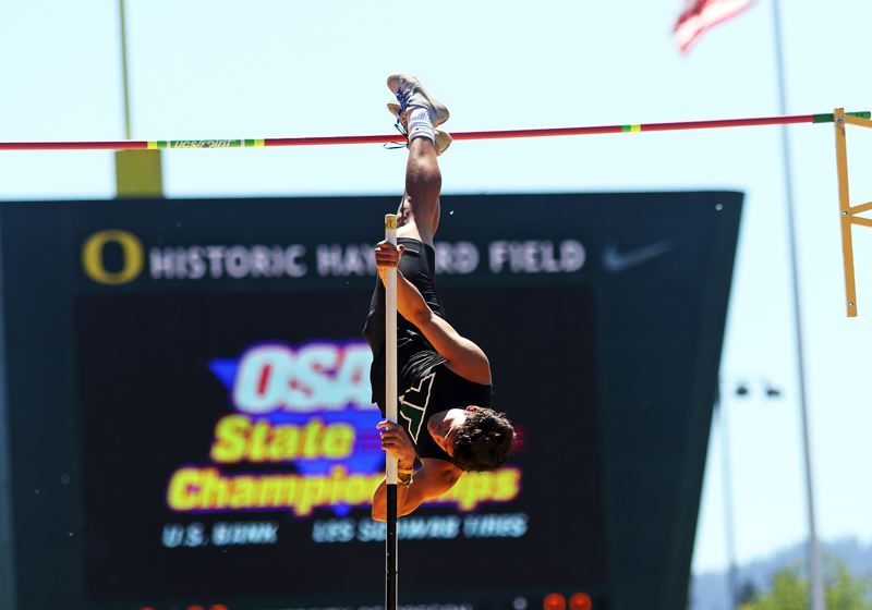 DAN BROOD - Aksel Thorsfeldt soared to seventh place in the pole vault at the Class 6A state track and field meet and he also was a ball-hawking defensive back during the football season.