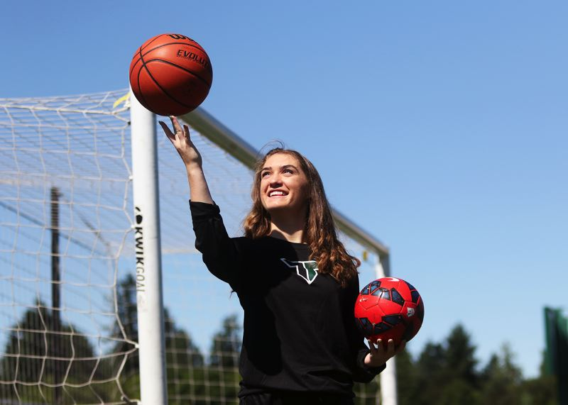 DAN BROOD - Lexie Sawin was a key player, and team leader, for the Tigard High School girls soccer and girls basketball teams.