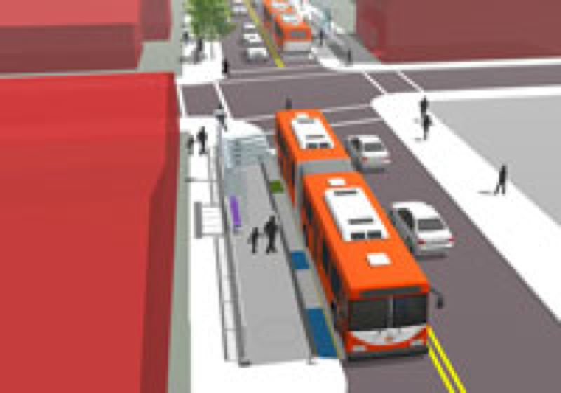 COURTESY TRIMET - One of several enhanced stations proposed for the Division Transit Project.