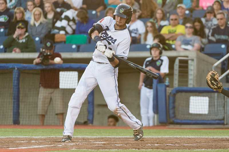 HILLSBORO TRIBUNE PHOTO: CHRISTOPHER OERTELL - Hillsboro fell 5-1 to Boise Friday, June 23, and has two more games scheduled with the Hawks Saturday and Sunday, June 24 and 25.