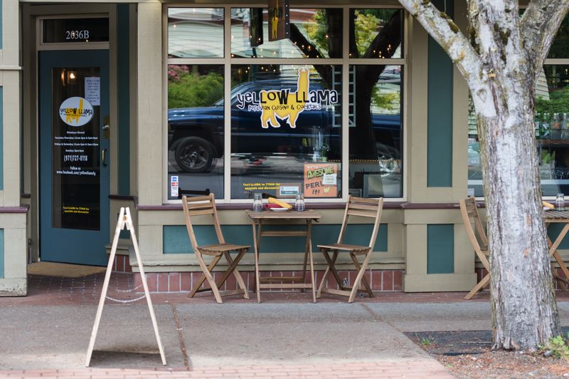 NEWS-TIMES PHOTO: CHRISTOPHER OERTELL - The Yellow Llama on Main Street in Forest Grove is a favorite restaurant for News-Times readers.