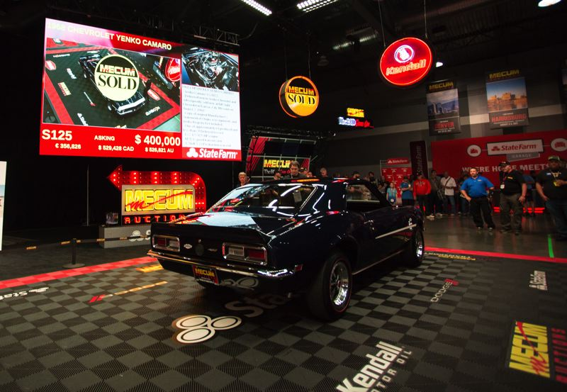 COURTESY MECUM AUCTIONS - This 1968 Yenko Camaro sold for $395,000 at the Mecum Auction held June 16-17 in Portland.