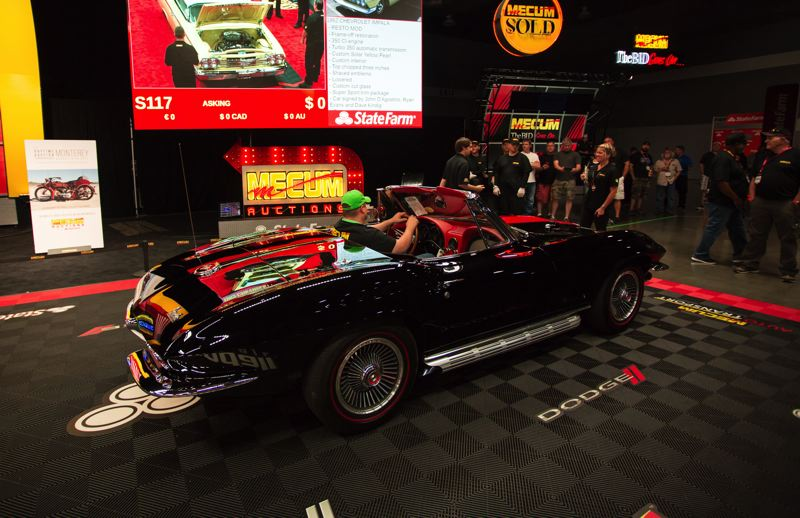 COURTESY MECUM AUCTION - This 1967 Corvette Convertible sold for $110,000.