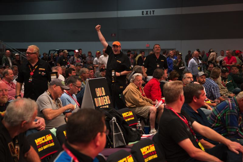 COURTESY MECUM AUCTIONS - The excitement is always high when someone makes a winning big at Mecum Auctions.
