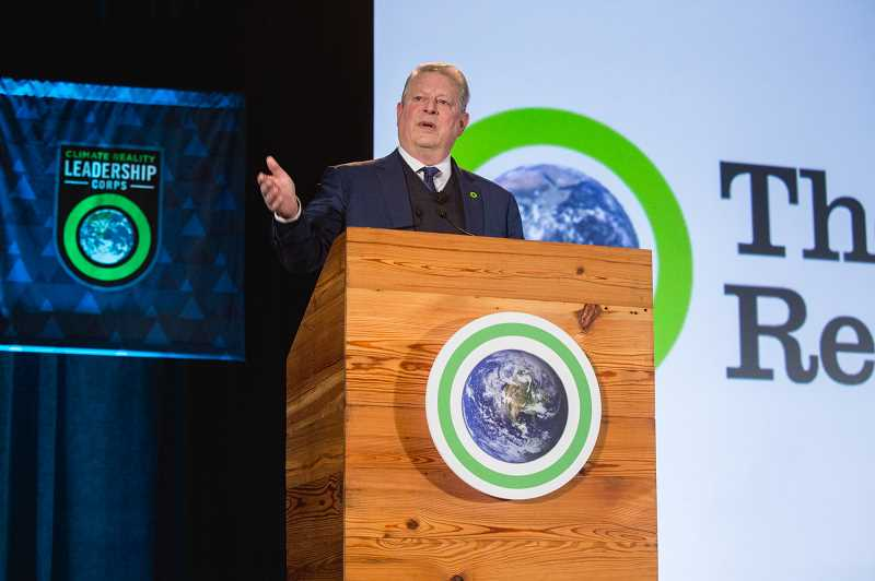 COURTESY: CLIMATE REALITY PROJECT - Former Vice President Al Gore will train another 700 climate reality leaders next week at an event in Bellevue, Wash.