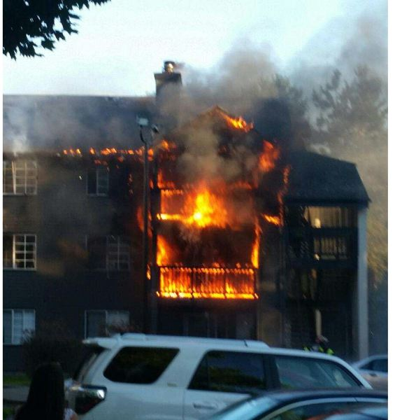 CLACKAMAS FIRE DISTRICT #1   No One Was Injured In This Apartment Blaze On  Friday