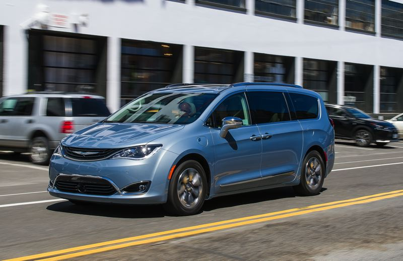 DOUG BERGER/NWAPA - The 2017 Chrysler Pacifica Hybrid was named Northwest Family Green Car of the Year.