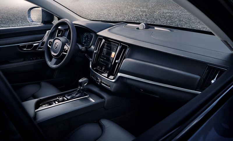 VOLVO CAR COMPANY - The interior of the 2017 Volvo Cross County T6 is comfortable and luxurious, on par with the finest European road cars.