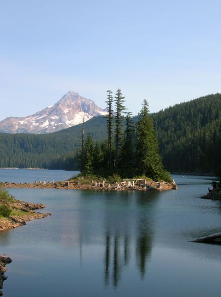 PORTLAND TRIBUNE FILE PHOTO - The Bull Run reservoir holds the drinking water supply for Portland and several suburbs. Bull Run water is considered relatively pristine, but has been found repeatedly this year to contain cryptosporidium, a potentially harmful parasite.