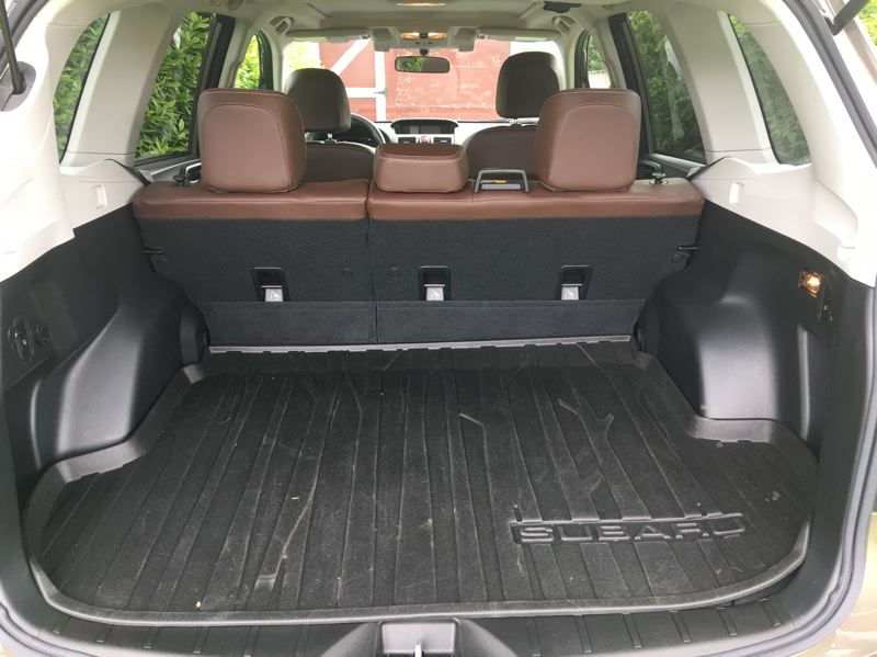 PORTLAND TRIBUNE: JEFF ZURSCHMEIDE - This generation of the Forester is larger than older models, offering almost 75 cubic feet of cargo capacity with the rear seats folded down.