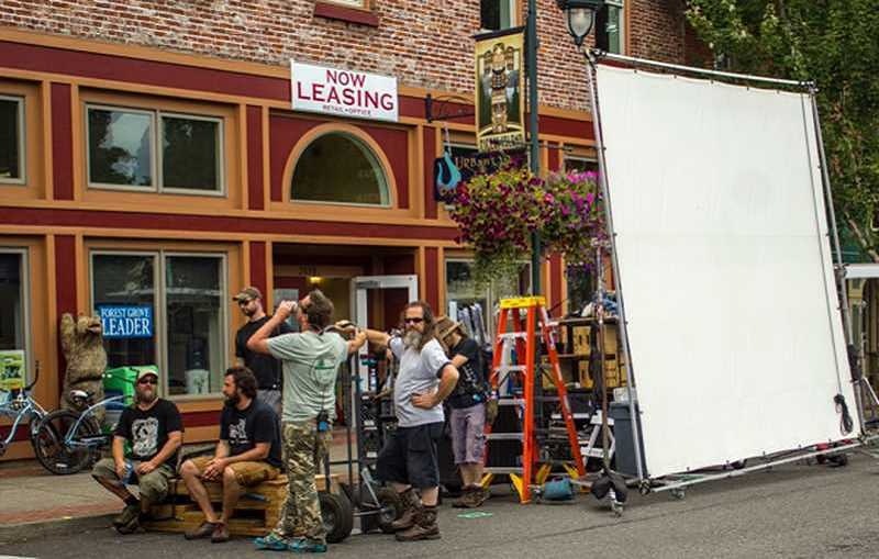 NEWS-TIMES FILE PHOTO - The Librarians drew gawkers and extras in 2015 when the cast and crew took over downtown Forest Grove to film an episode.