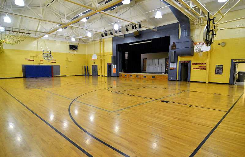 TIDINGS PHOTO: VERN UYETAKE - The gym is the oldest part of the old Sunset Primary. It was built in 1930.