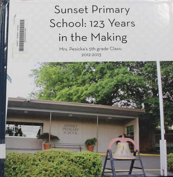 SUBMITTED PHOTO - Sunset students self-published the book 'Sunset Primary School: 123 Years in the Making' back in 2013.